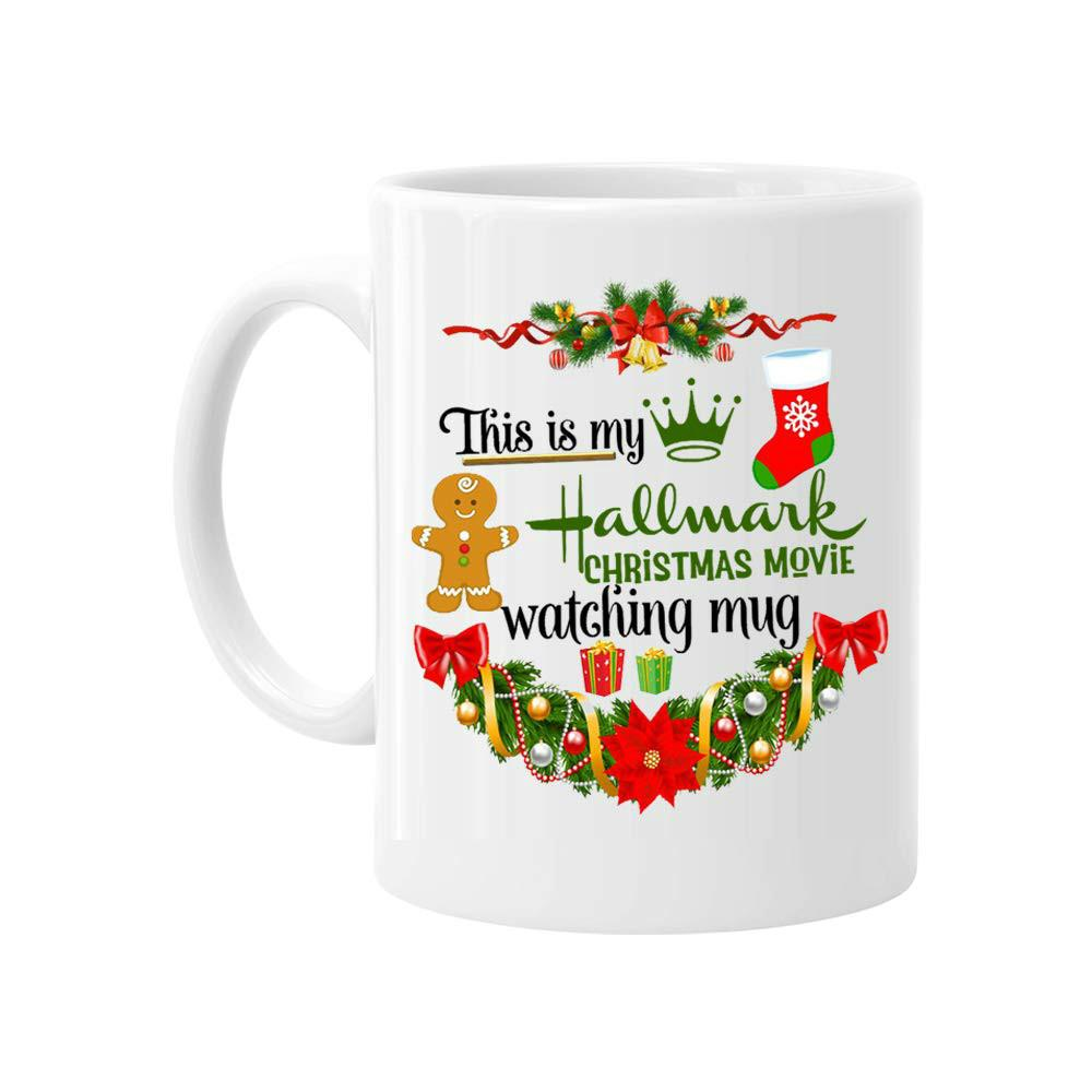 2daa971f628 Christmas Mug, This Is My Hallmark Christmas Movie Watching Mug Coffee Mug  Cup, Funny Xmas Gift For Women Men Kids Mom Dad Friends, 11 Ounce Cheap  Travel ...