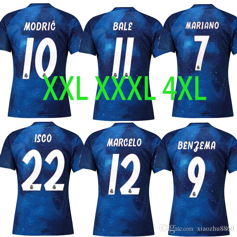 reputable site 2b7e2 6362b XXL XXXL 4XL Real madrid Jerseys Champions EA sports MARIANO 2019 ISCO  soccer jersey SERGIO RAMOS MODRIC BALE football shirt