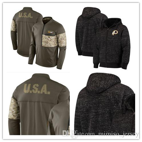 lowest price c2c47 2e670 Washington Men's Redskins Jersey Salute to Service Sideline Hybrid Half-Zip  Pullover Jacket football Hoodie