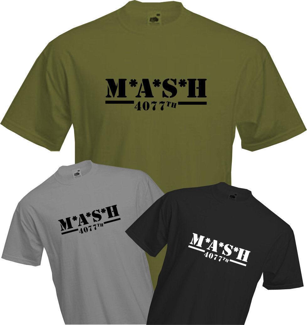 dca8742c M*A*S*H 4077TH T Shirt, MASH TV Series, US Army Military, Fun, Retro Cool,  NEW Make T Shirts Online Tees Design From Happyjapanuk, $12.96| DHgate.Com