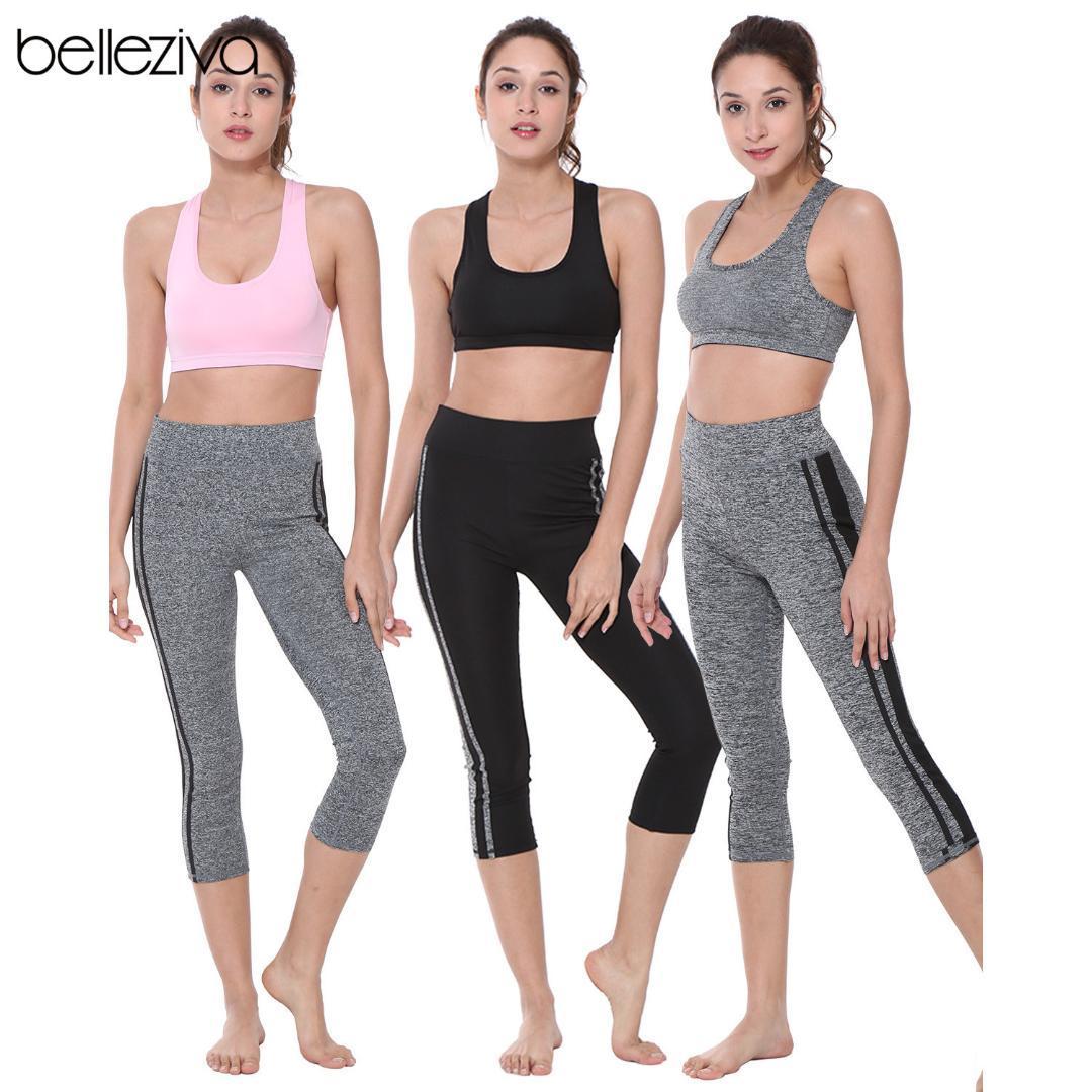 Acheter Belleziva Survêtement Femmes Solide Yoga Set Running Fitness  Jogging Costume De Sport Gym Sportswear Workout Vêtements De  47.54 Du  Vanilla12 ... a0446c6071a
