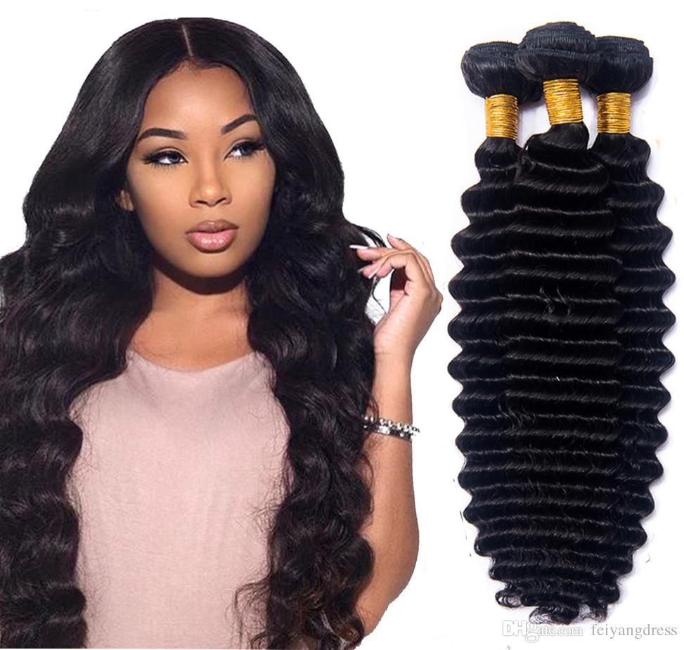 8A Remy Human Braiding Hair Bulk No Weft Deep Wave Bulk Hair For Braiding  Brazilian Virgin Hair Crochet Braids Best Hair For Weaving Best Hair For  Weaves ... e01d4c090
