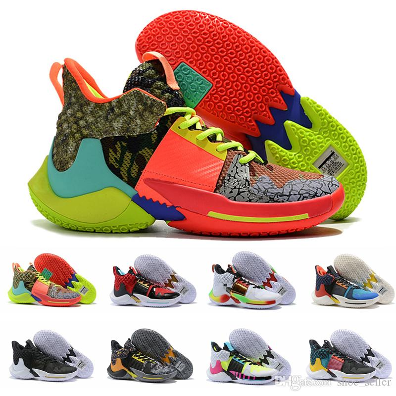 2019 Why Not Zero 2.0 PE Basketball Shoes Hommes Hommes Jumpman Sneakers Russell Westbrook II Baskets Zer0.2 Chaussures Sportives Chaussures Zapatos