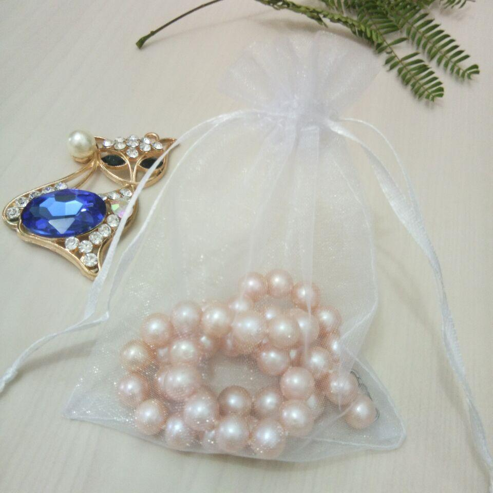 2018 Plain color Organza bag mesh bag Drawstring pouch Gift Jewelry Packaging Bags Wedding Party Decoration Drawable Bag