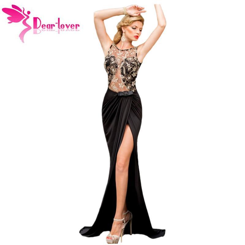 bba1662e3 Compre Traje De Cola De Pescado Formal Sirena Dama Sexy Bordado De Malla  Wrap Vestido Sin Espalda Maxi Vestidos De Gala Vestidos LC6839 A  34.17 Del  ...