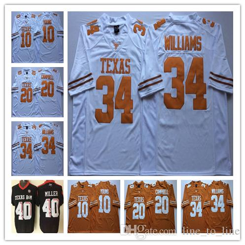 ccc6477b5 2019 Texas Longhorns College Football 7 Shane Buechele Jersey 10 Vince  Young 20 Earl Campbell 34 Ricky Williams 12 Colt McCoy 98 Brian Orakpo From  ...