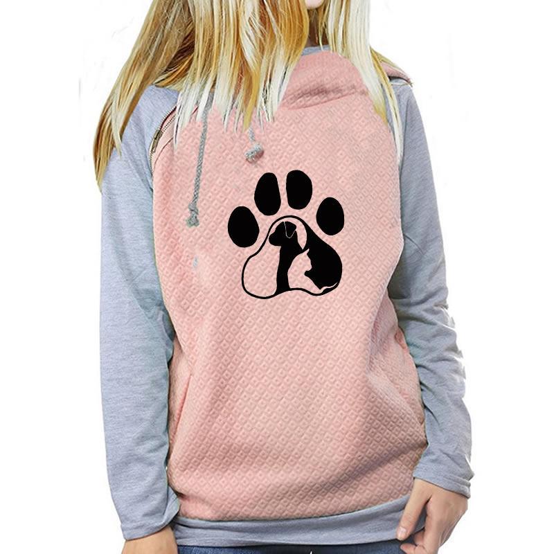 Primavera Dog Mujeres Cat Paw Compre Cremallera Impreso Letter Bq6xnR 266426347bda