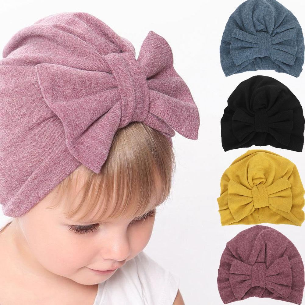 62df9f8114ac9 Cute Newborn Toddler Baby Infant Knot Hat Cotton Soft Solid Beanie Cap  Party Hats