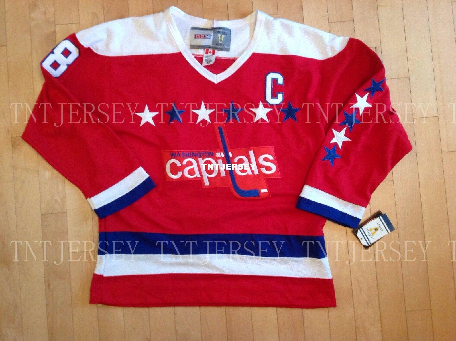5b6cea08a2c 2019 Cheap Custom Vintage Washington Capitals Alex Ovechkin Jersey CCM Mens  Personalized Stitching Jerseys From Tntjersey