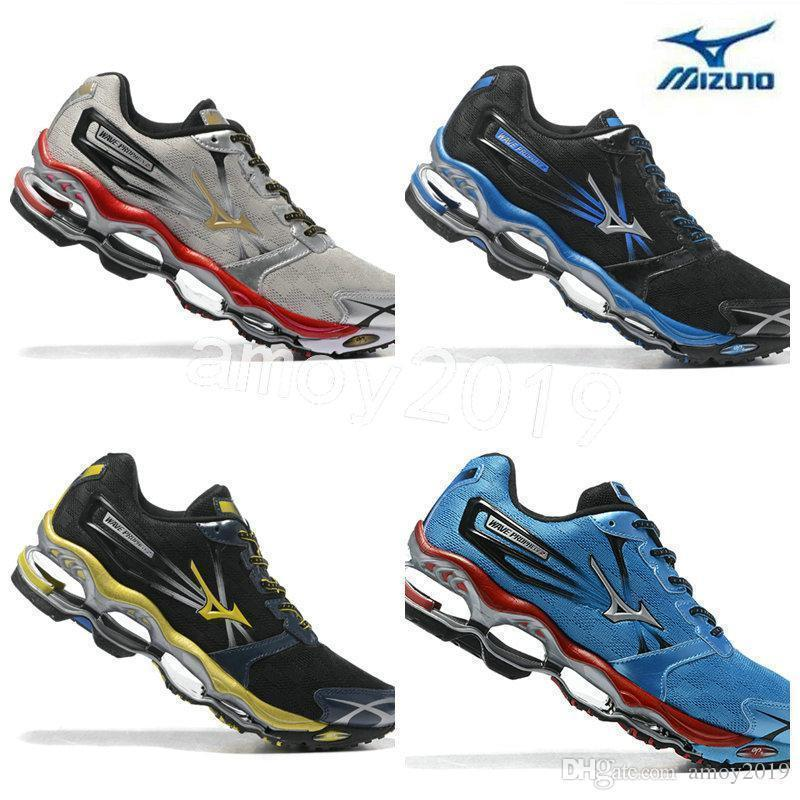 cheap for discount 63530 ce951 Authentic Arrive New Mizuno Wave Prophecy 2 Men Designer Sports Running  Shoes Sneakers Mizunos 2s Casual Mens Trainers Size 40-45