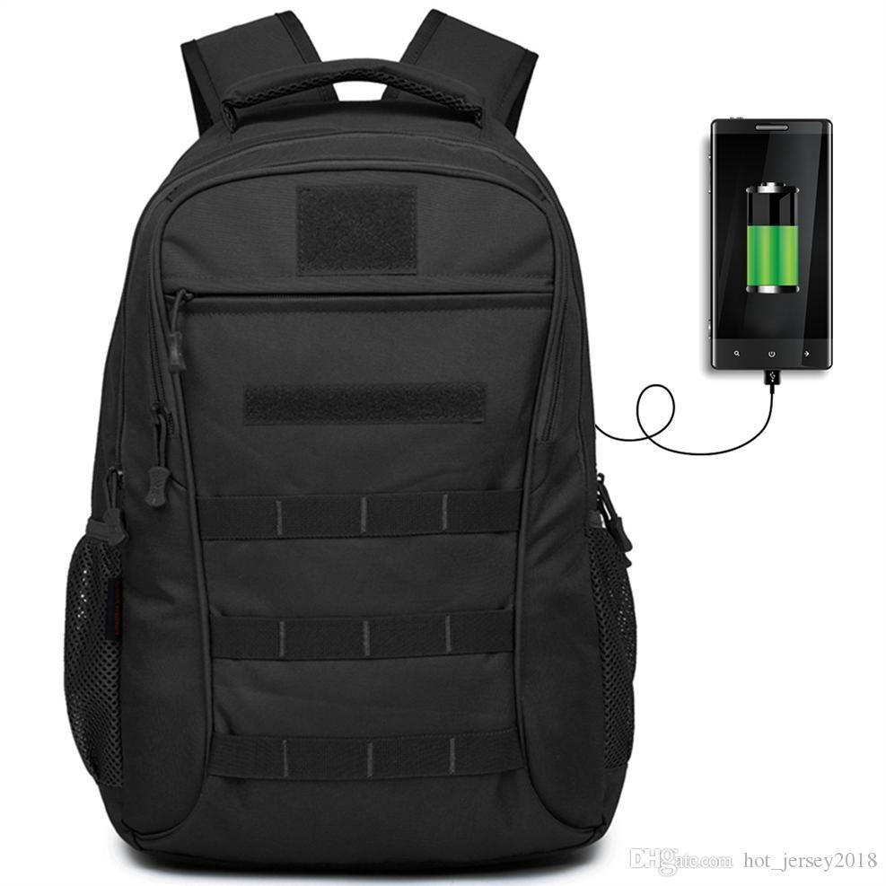 d3d535b05451 50L Outdoor Sport Military Tactical Bag Climbing USB Charging Laptop  Backpack Camping Hiking Trekking Rucksack Travel Bags #109164