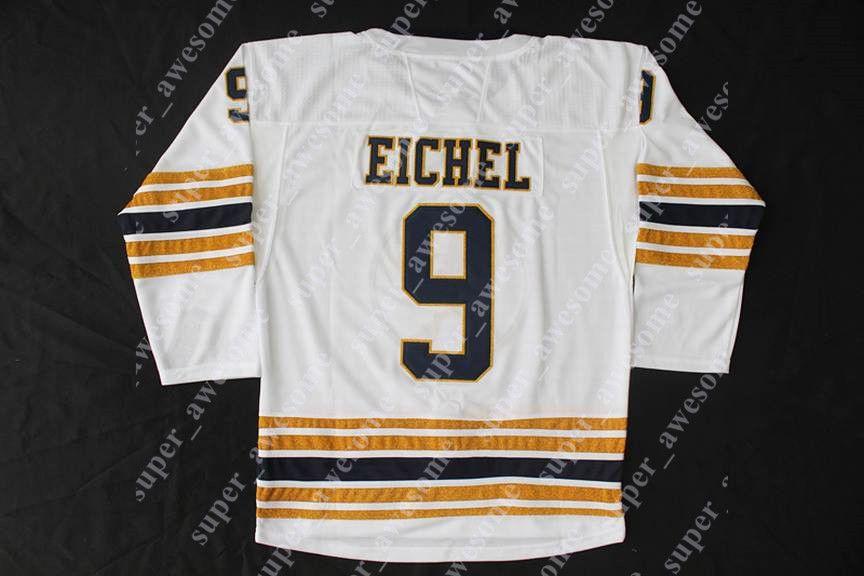 2020 Homens Mulheres Youth Buffalo Sabres 9 Jack Eichel Jersey 53 Jeff Skinner 26 Rasmus Dahlin hóquei Marinha Jerseys 50º mancha branca Tudo costurado