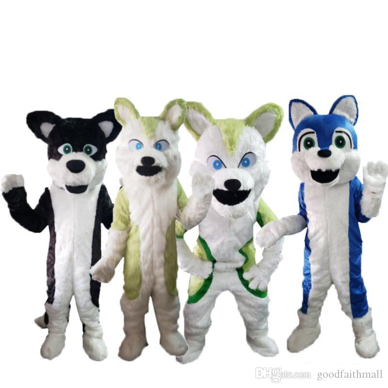 2019 factory sale hot Long hair fox mascot costume doll props custom cartoon characters
