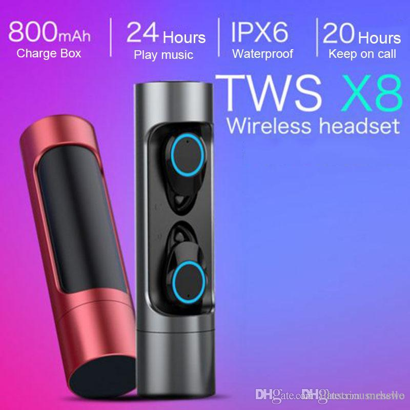 ffc81d725b9 X8 Touch Control Bluetooth 5.0 True Wireless Earbuds 3D Stereo Sound  Earphones IPX7 Waterproof Sports With 3000mAh Charging Case Dj Headphones  Gaming ...