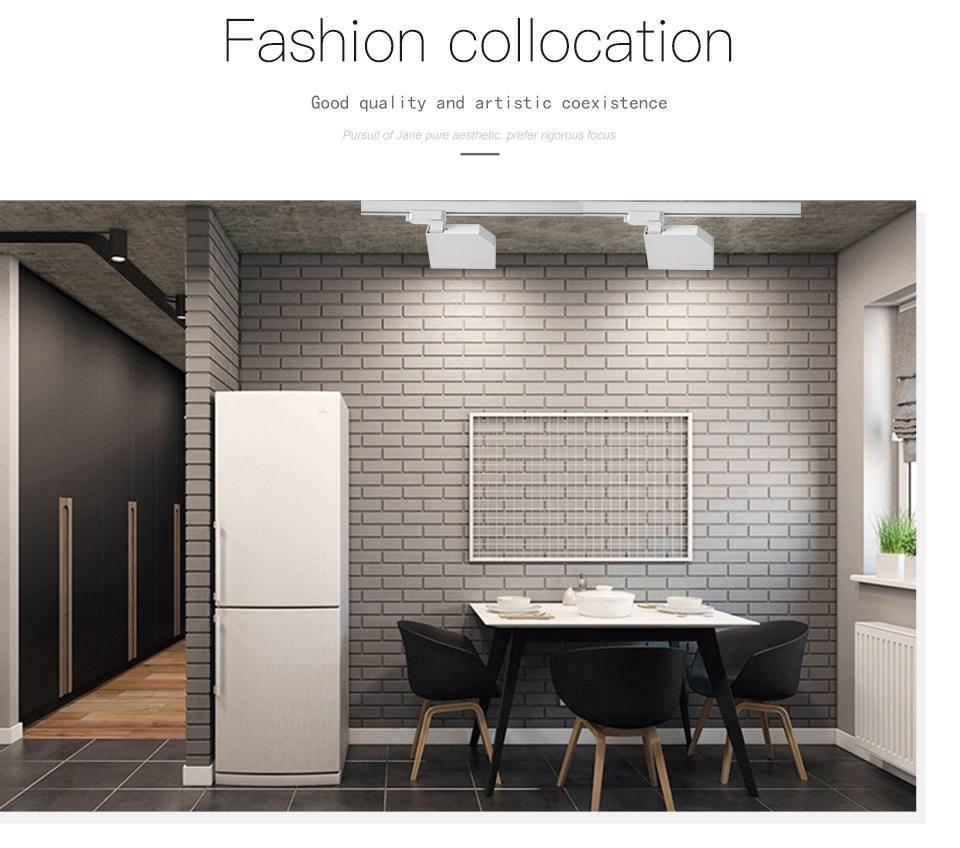 SCON 7W Schienenaufbauleuchte modern nordisch COB OSRAM Wohnzimmer Sofa backgroound Wand LED Schienenstrahler