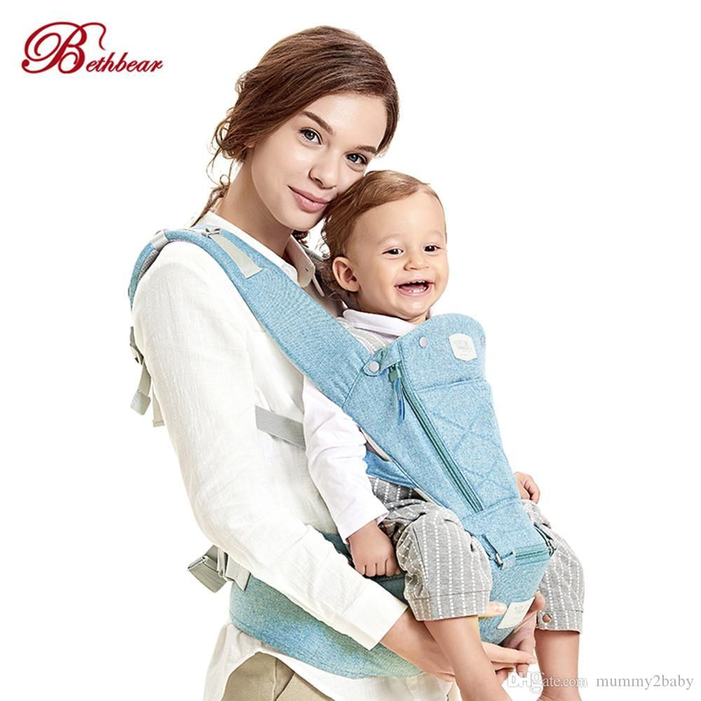e760759a9b0 2019 Bethbear Baby Carrier Ergonomic Backpack Hipseat Newborn Infant Toddler  Kid Child Sling Horizontal Front Facing Carrier VB From Mummy2baby