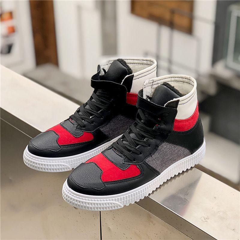 c6b55897a9d Top Hombre High 91 Tide Negro Talón 46 Beige Shoes Suave Fashion Ligero  Inside Winter Calzado Warm Compre Zapatos ...