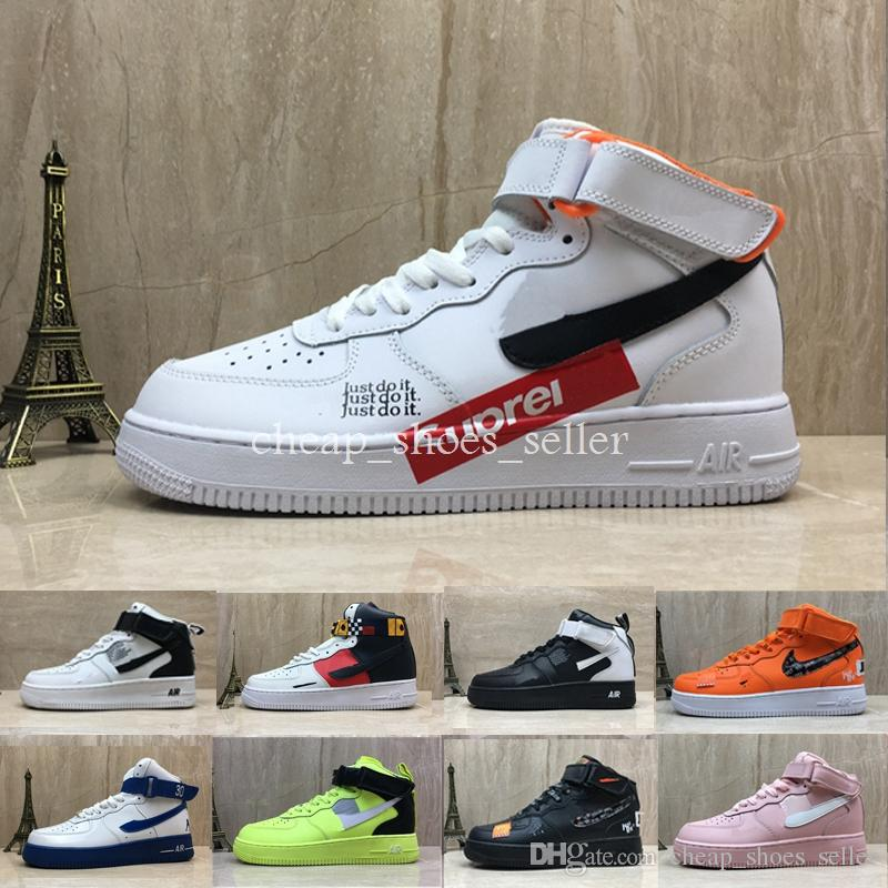 38da8ef2d69 Acheter Nike Air Force One Shoes 2019 Just Do It Chaussures De Course À  Pied Pour Homme 1 Homme Haut