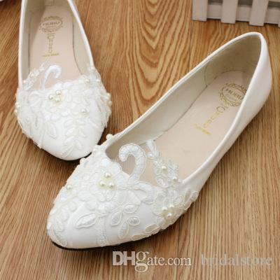 44179bd6d6166 Beautiful Flatforms Lace Wedding Shoes For Women Boho Beach Wedding  Bridesmaid bridal wedding sandals fashion summer ladies flat shoes 2019