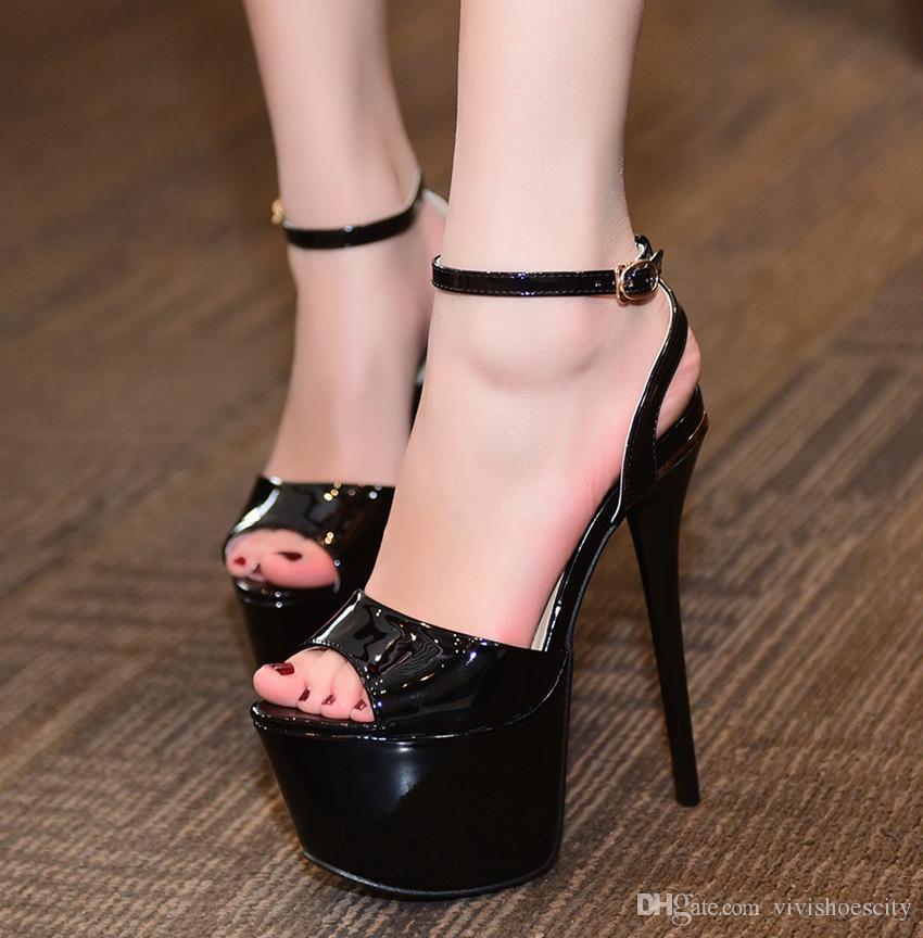 17 centimetri sexy piattaforma inferiore rossa scarpe ultra tacco alto da sposa scarpe da sposa bianco taglia 34-39