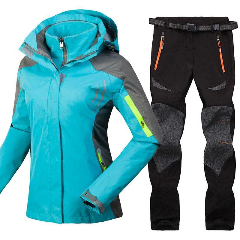 1a9ec37cd 2019 Mountain Skiing Suit For Women Winter Waterproof Windroof ...