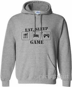 KIDS EAT SSummerP GAME 2 HOODIE XBOX HOODY PLAYSummerATION HOODED SWEAT GAMING 5