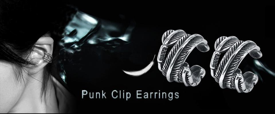 ZS Frauen Hip Hop Knorpel Clip Ohrringe Schädel Sterne Form Ohr Manschette Schmuck Herren Edelstahl Schmuck Kein Piercing Ohrring