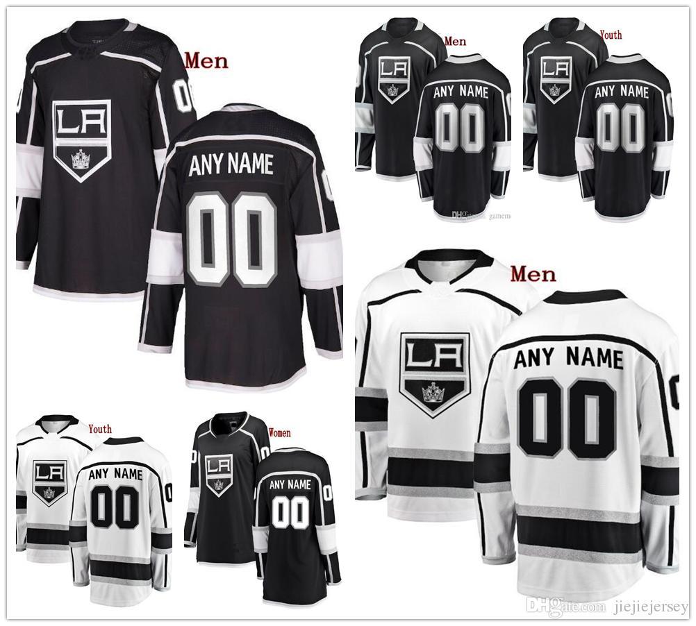 big sale 48a59 2387b Custom Los Angeles Kings Adrian Kempe Alec Martinez 17 Ilya Kovalchuk 8  Drew Doughty mens women youth hockey stitched Jersey