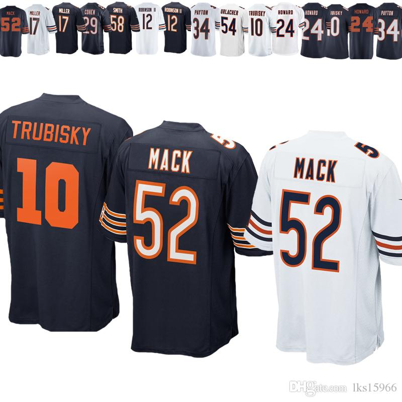 e93eb9a27de 2019 2019 Chicago Bears Jerseys 10 Mitchell Trubisky 52 Khalil Mack 29  Tarik Cohen 12 Allen Robinson 17 Nthony Miller From Lks15966