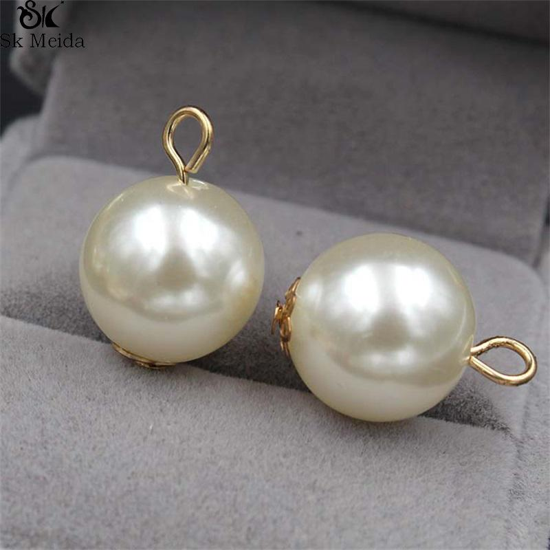 0955d50e4 2019 DIY Handmade Jewelry Accessories Pearl Ball Bead Stud Earrings  Bracelet Necklace Simple Alloy Pendant Material From Dtt123, $4.07 |  DHgate.Com