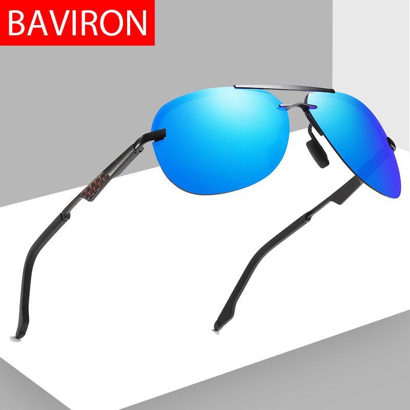 c45be8ffff Compre BAVIRON Sin Montura Gafas De Sol Polarizadas Hombres 100% UVA UVB Piloto  Hombres Gafas De Sol Diseñador De La Marca 2019 Nuevos Gafas De Sol Hombre  ...