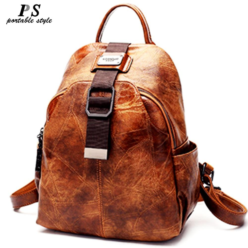 ea861038e922 High Quality Women Backpack 100% Genuine Leather Back Pack Famous ...