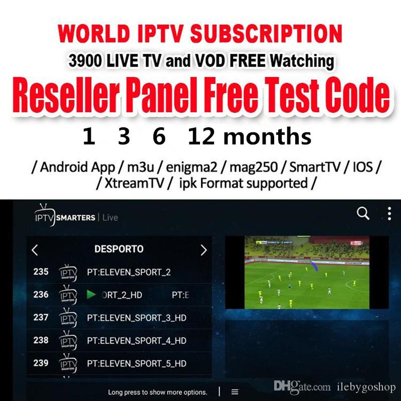 IPTV Subscription 1/3/6/12 Months Android TV Box Europe Sweden Arabic  French Italy Germany UK M3U Enigma2 Smart Mag tv box