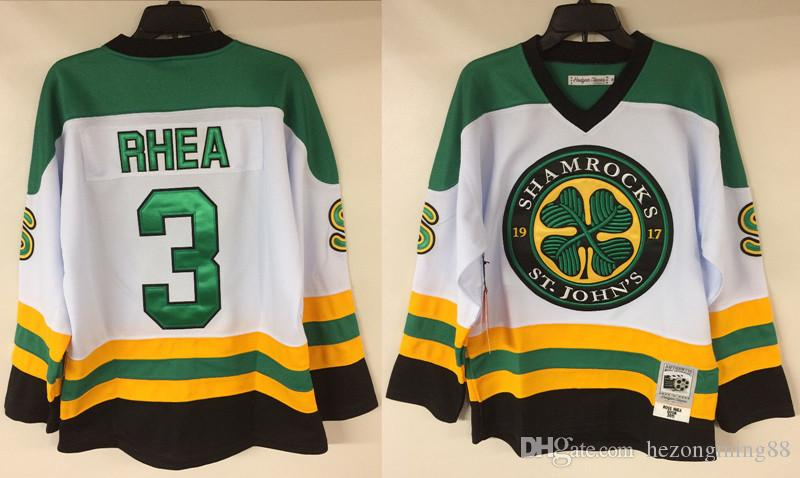 3d608f2d9 Ross The Boss Rhea GOON Movie St John's Shamrocks Men's RETRO Hockey Jersey  Embroidery Stitched Customize any number and name