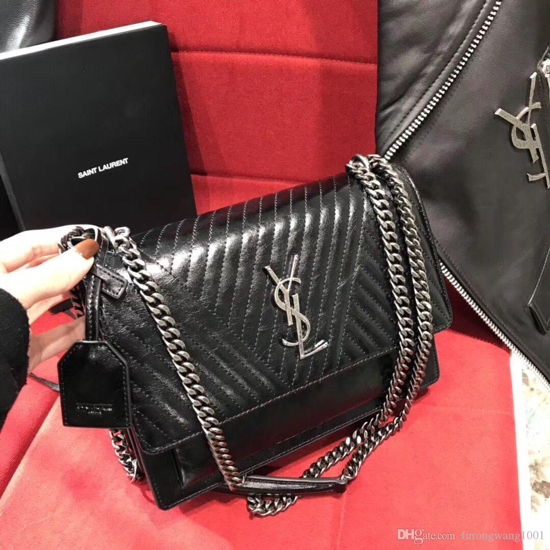 3a7706adf0c 2019 High Quality With Box Original Hardware Designer Luxury Brand Fashion Womens  Women Genuine Leather Wallet Bags Handbags Shoulder Bags Bag Ysl From ...