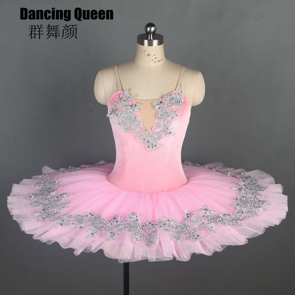 564db0dbf 11 tallas! Pink Velvet 7 tipos de adornos de ballet tutu mujeres niñas  Pancake tutus trajes de ballet profesionales para bailarina Bll108
