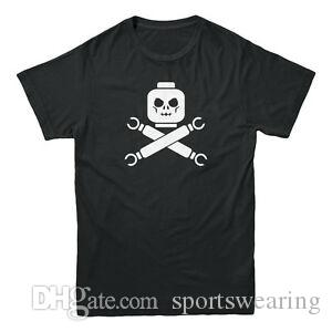 Atacado Caveira amp Crossbones Atacado Pirata Retro Gamer Nerd Toy Men 039 s camiseta
