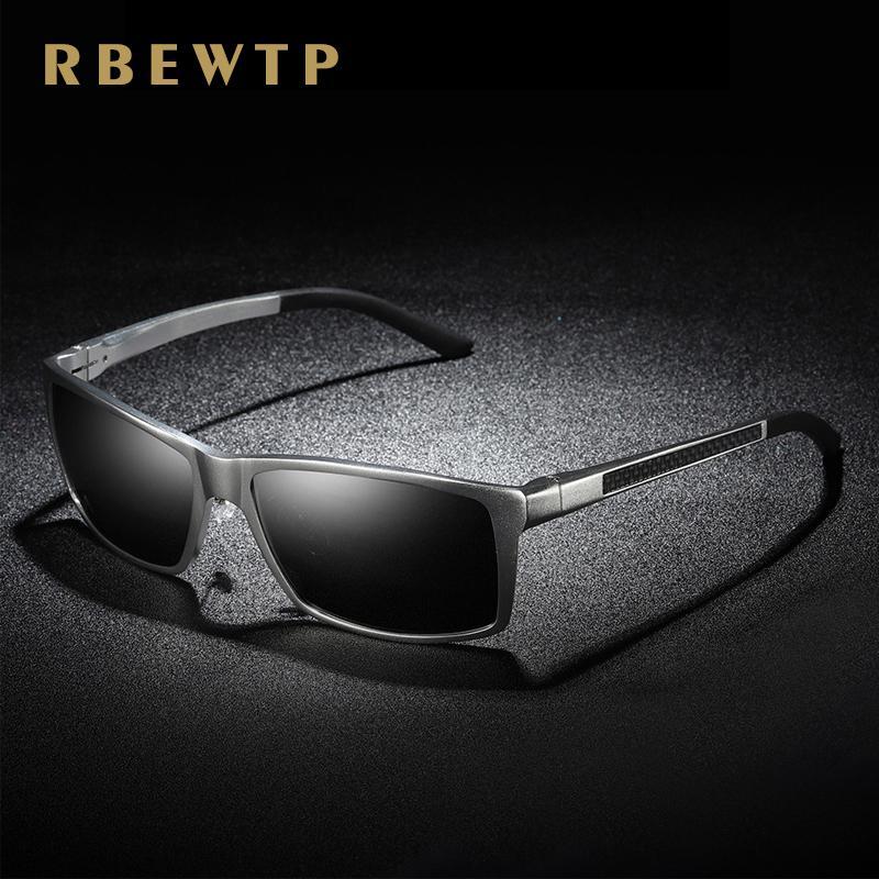 Compre RBEWTP Marca Gafas De Sol Cuadradas Hombres Polarizado Conducción  Aluminio Revestimiento De Magnesio Gafas De Sol Gafas UV400 Gafas De So A   37.97 ... ad05e6b3bfe6