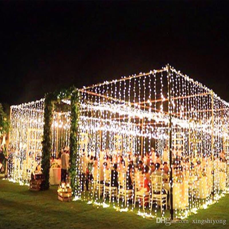 482e615d92c Compre Gran Tamaño 10MX5M 1600 Bombillas Garland LED Cortina Luces De La  Secuencia Al Aire Libre Escarda Las Luces LED Decorativas Para La Fiesta De  Navidad ...