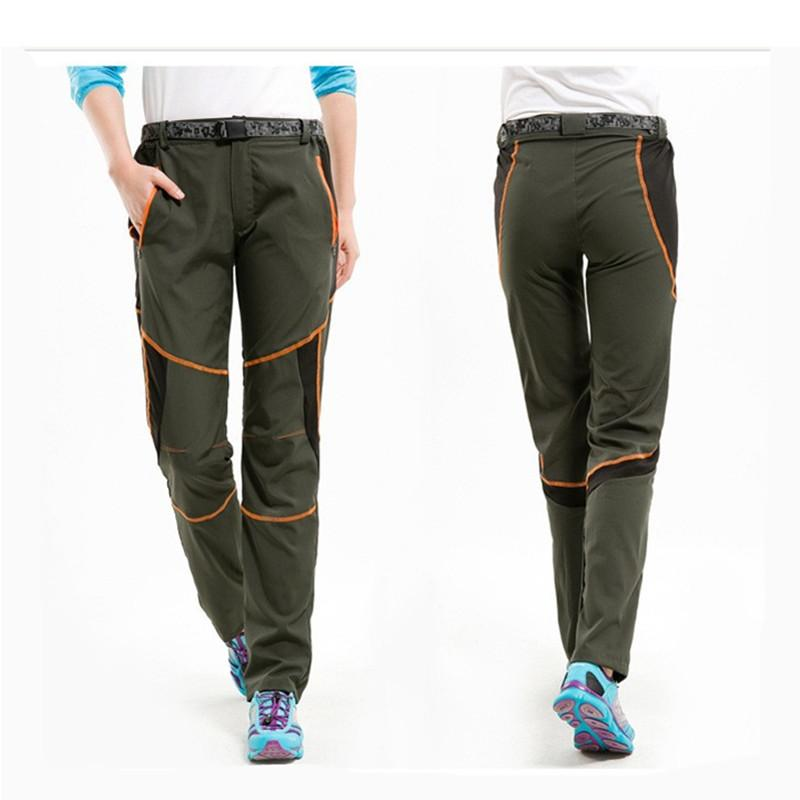 ecbfbe46a8cd Quick Dry Hiking Camping Pants Travel Anti-UV Breathable Women Men ...