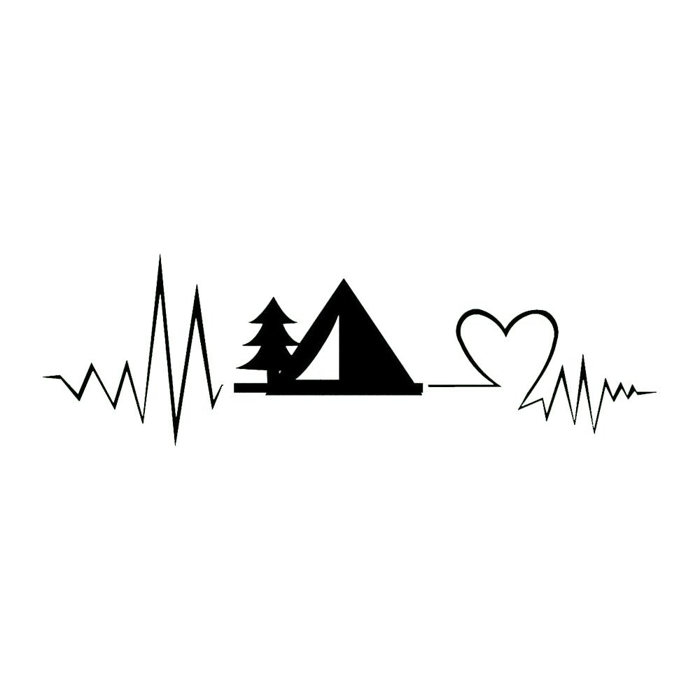 2019 722cm camping decal heartbeat camping travel decal vinyl sticker car stickers novelty jdm drift decals from xymy767 3 92 dhgate com