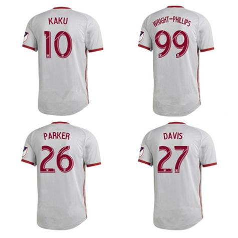 c2fad9253f89 2019 2019 New York Red Soccer Jersey Home Top Quality MLS Silver Gray  WRIGHT PHILLIPS LONG Bulls Football Shirt More Free DHL Shipping From  Mbappe1109