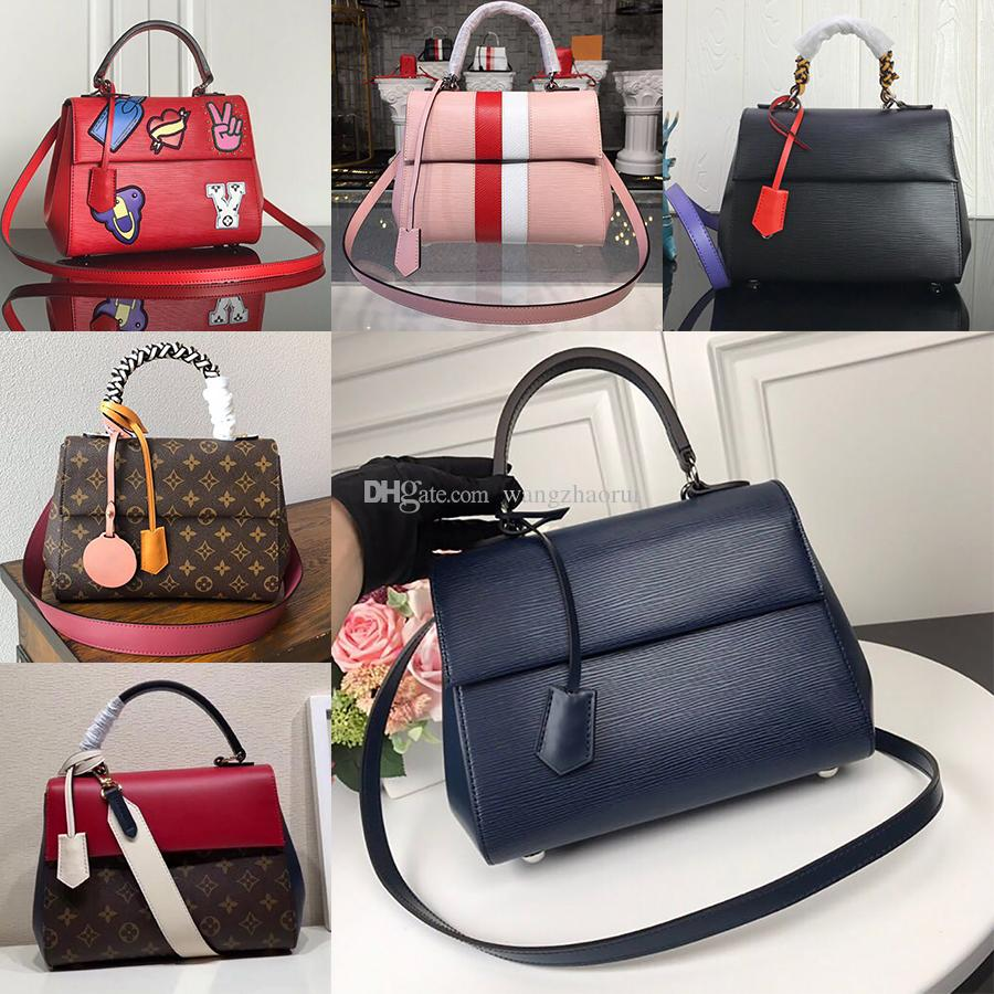 5A Top quality Cluny BB Shoulder handbag M41338 EPI leather Messenger bags Evening bag Commuter bag wallet purse CrossBody bags with box