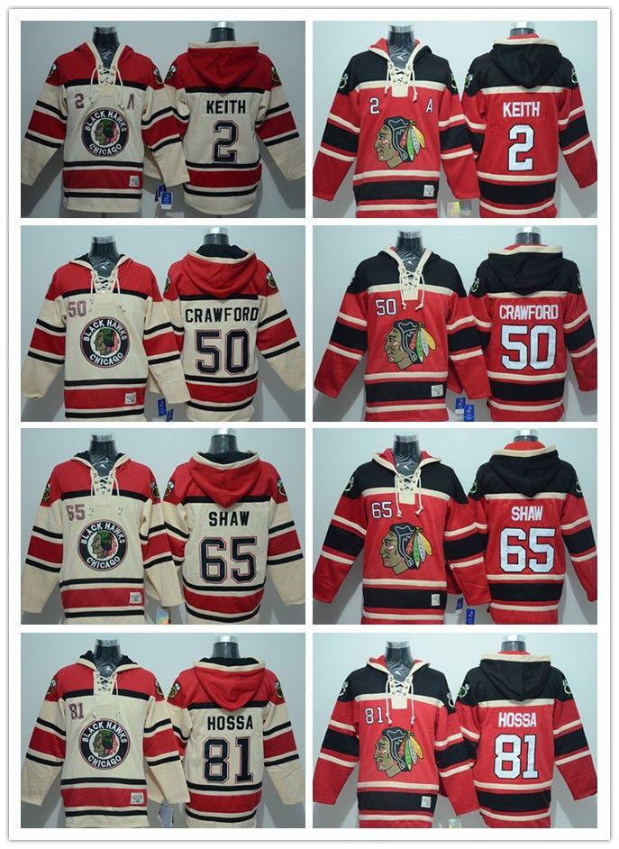 Men s Embroidery Chicago Blackhawks  2 Duncan Keith  50 Corey ... c3f00118f0e