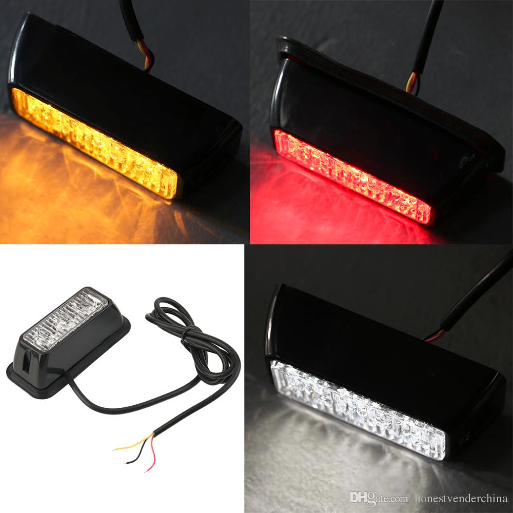12v 3w Windshield Led Strobe Light Viper Car Flash Signal Emergency Warn The Heat In An Automobile Fireman Police Beacon Warning Red Blue Amber Bulb Auto Automotive