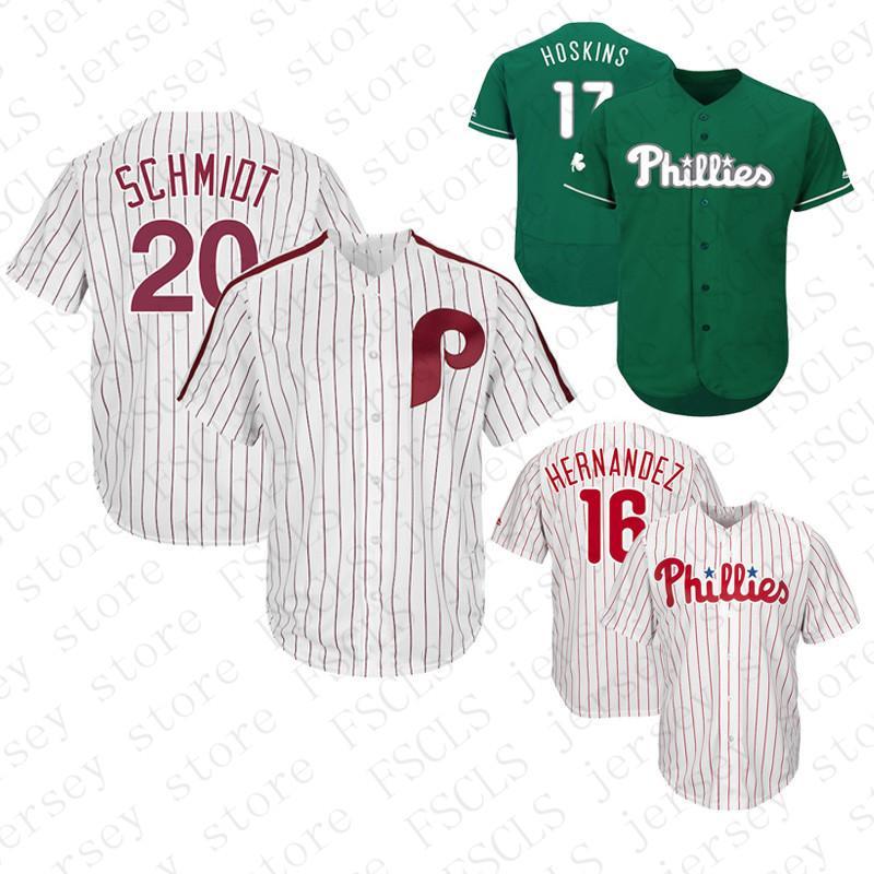 2019 Mens Custom Jerseys Philadelphia Phillies Cesar Hernandez Rhys Hoskins Mike  Schmidt Baseball Jersey Color White Red Blue Gray From Fsclz 4d1a962db03