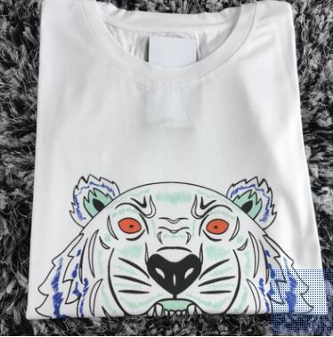 Wholesale fashion unisex summer T-shirt women's shirt tiger head letter printing T-shirt cotton short-sleeved T-shirt ladies men's