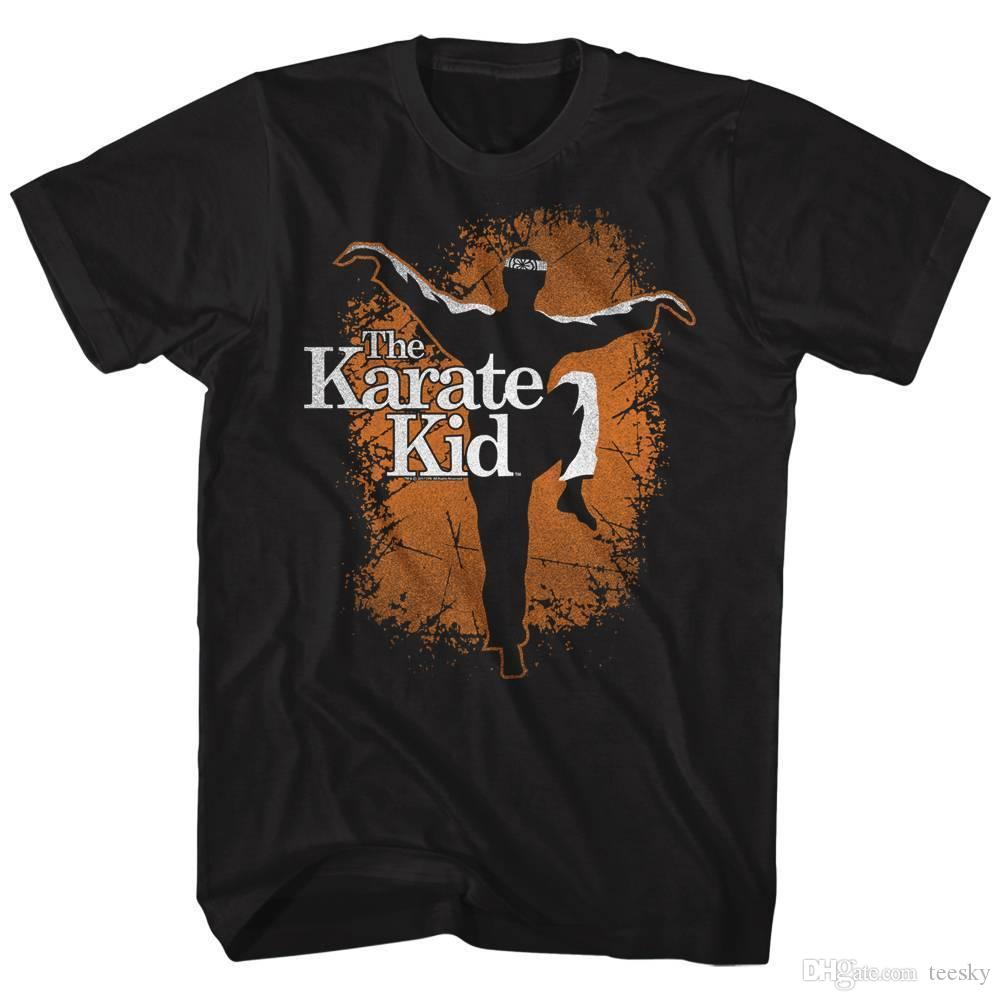 71dfce919 Karate Kid Men'S Short Sleeve T-Shirt Black Orange Crane T Shirt ...