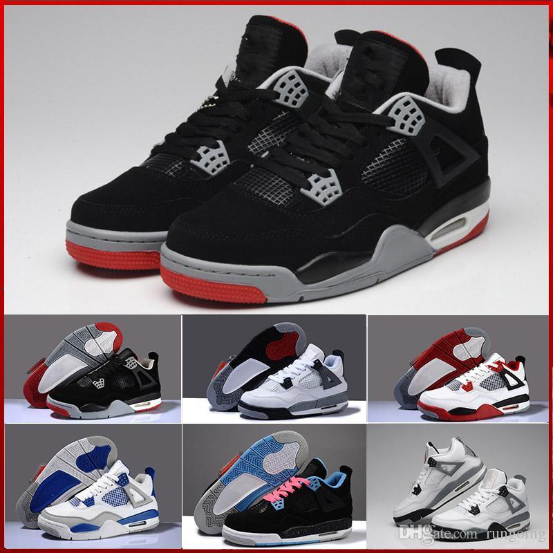 buy popular ee5a2 3a33d Compre Nike Air Jordan 4 Aj4 Retro Calzado Casual De Mujer Calzado De Mujer  J4 Rojo Negro Flor Blanco, Etc. Calzado Casual De Niños Y Niñas A  125.89  Del ...