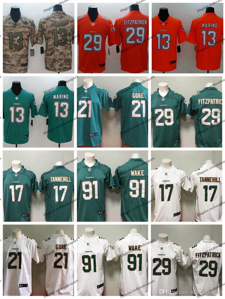 super cheap 0d587 30bc8 2019 Camo Salute to Service Miami 13 Dolphins Dan Marino 29 Minkah  Fitzpatrick Ryan Tannehill 91 Cameron Wake 21 Frank Gore Football Jerseys
